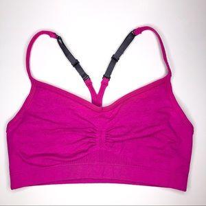 Lululemon Pink & Gray Racerback Sports Bra